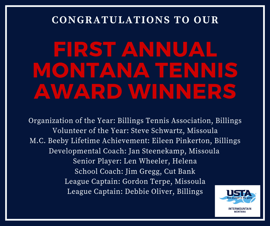 USTA MT 2019 Award Winners