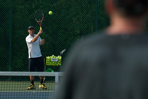 Private tennis lessons at Sea Colony